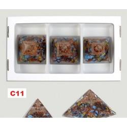 Pirâmide Orgonite 7x7cm